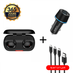 Oraimo Airbuds + Chargeur...